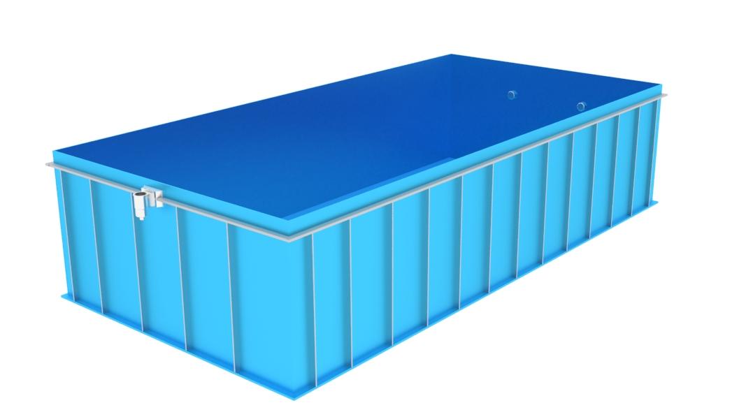 Zemní obdélníkový bazén BO-6x2x1.5