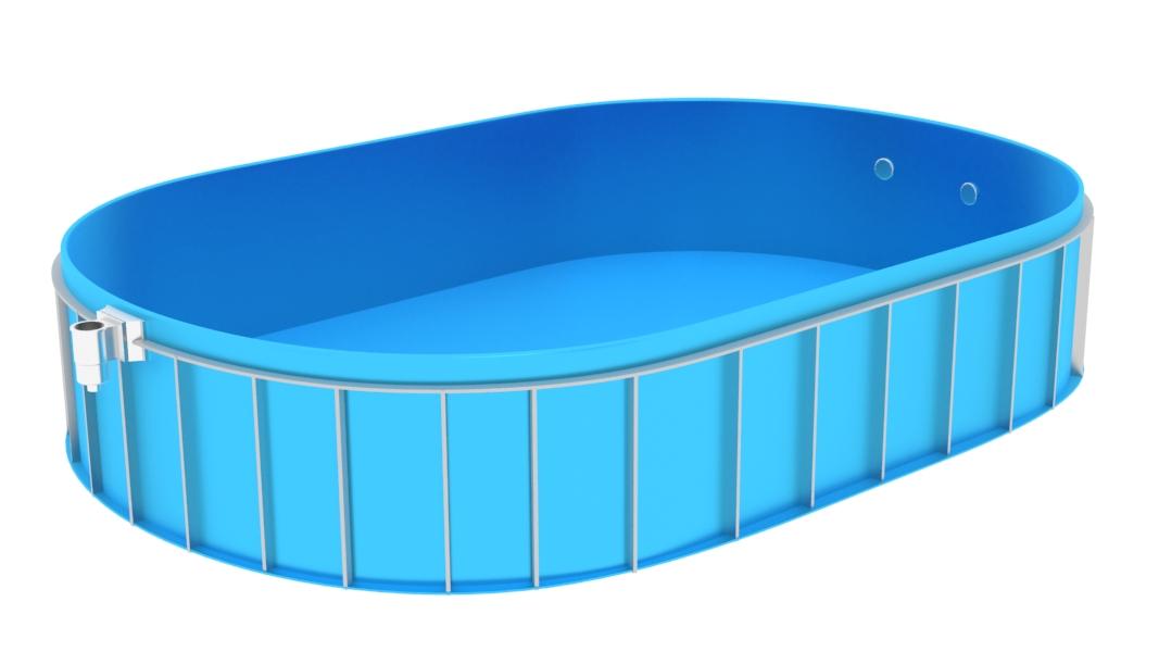 Zemní oválný bazén BE-7x3x1.5