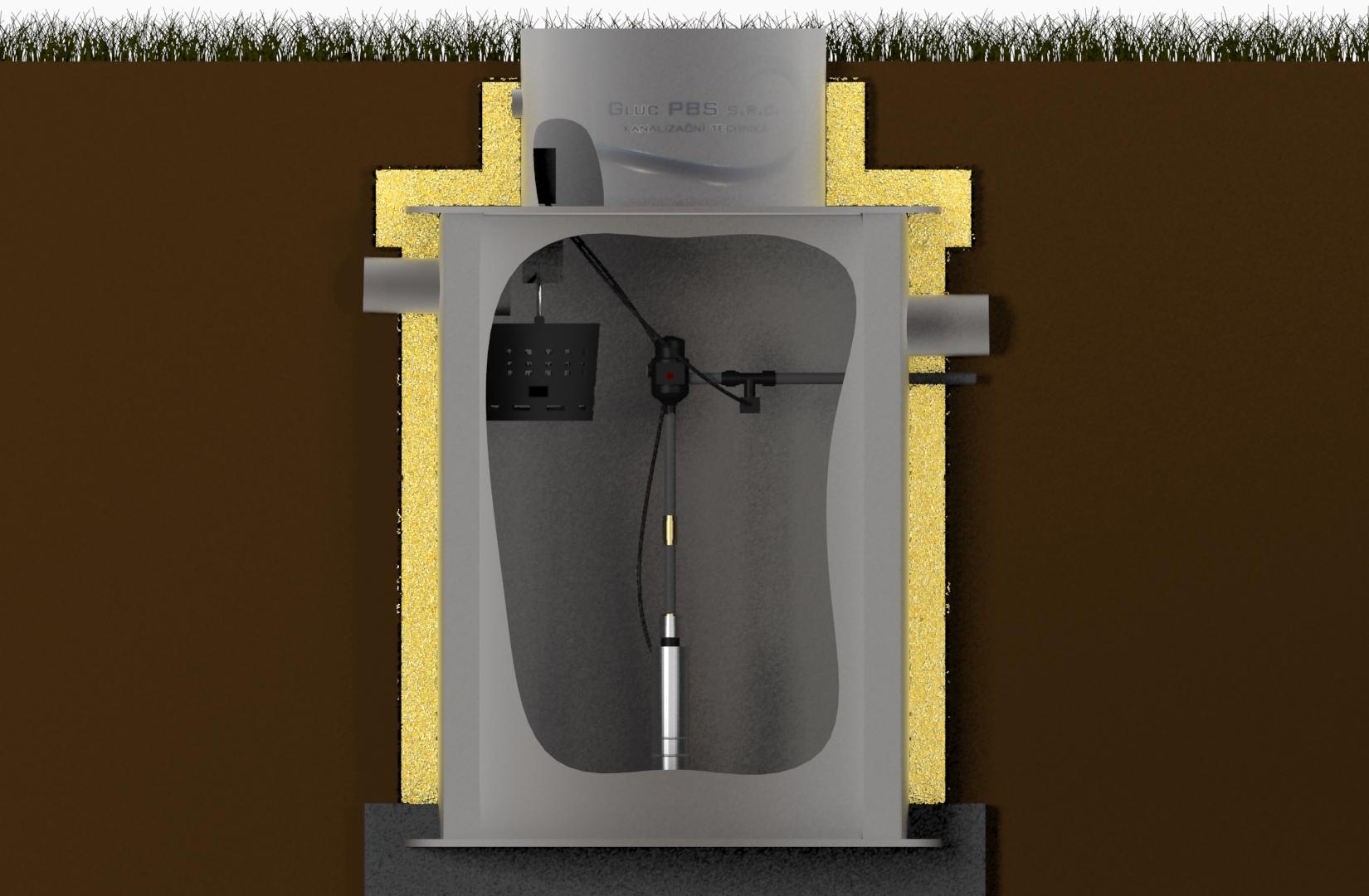 Vystrojení jímky na dešťovou vodu s čerpadlem